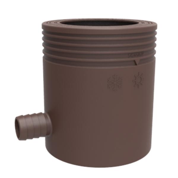 Відвід дощової води в ємність, для труб 80-105мм, коричневий