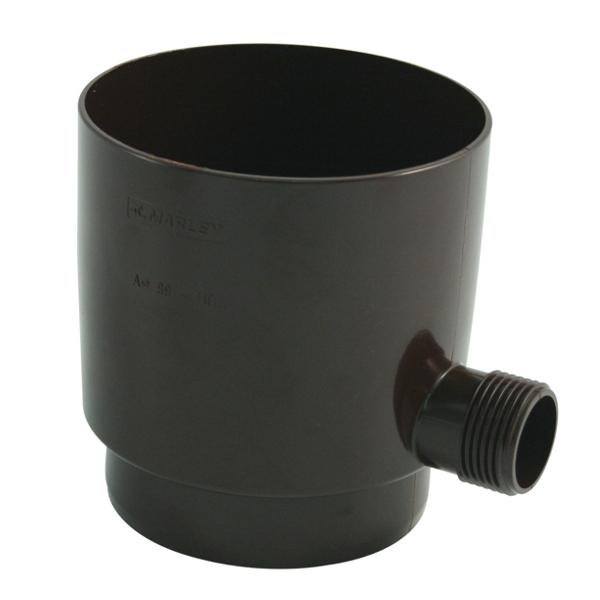 Відвід дощової води в ємність, для труб 105мм, коричневий