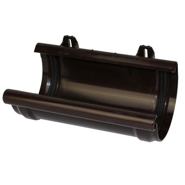 З'єднувач ринв 125 мм коричневий (RAL 8019)