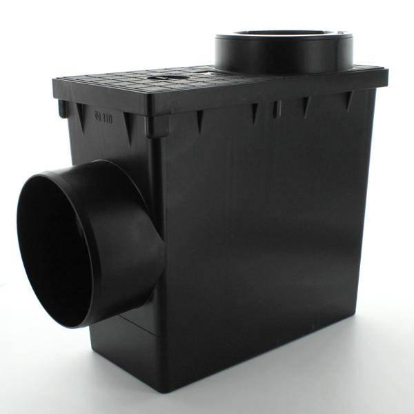 Короб-дощоприймач D=82,74,110мм x 110мм, чорний
